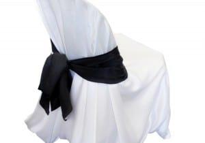 black chair sash