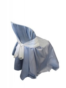 chair cover silver