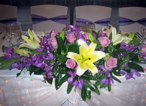 Bridal Table Flower Decoration