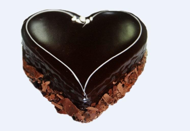 Des Heart Choc mud cake