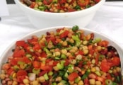 3-Bean, Chick Pea and Tomato Salsa Salad