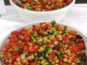 3-Bean, Chick Pea and Tomato Salsa Salad