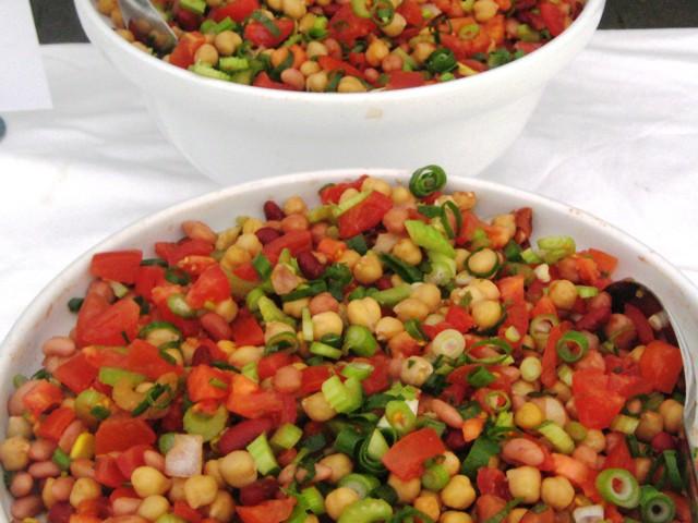 SALADS 3-bean, chick-pea & tomato salsa