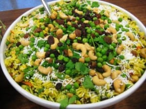 Curry and Cashew Rice Salad